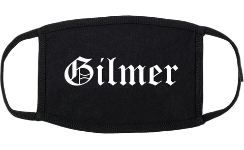 Gilmer Texas TX Old English Cotton Face Mask Black