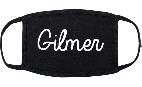 Gilmer Texas TX Script Cotton Face Mask Black