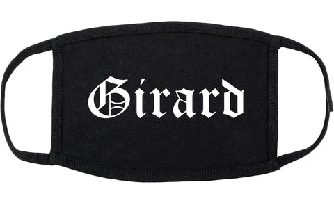 Girard Ohio OH Old English Cotton Face Mask Black