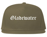 Gladewater Texas TX Old English Mens Snapback Hat Grey