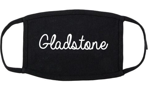 Gladstone Michigan MI Script Cotton Face Mask Black