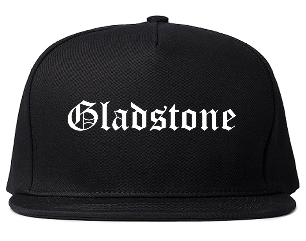 Gladstone Oregon OR Old English Mens Snapback Hat Black