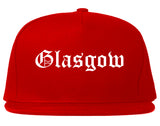 Glasgow Kentucky KY Old English Mens Snapback Hat Red