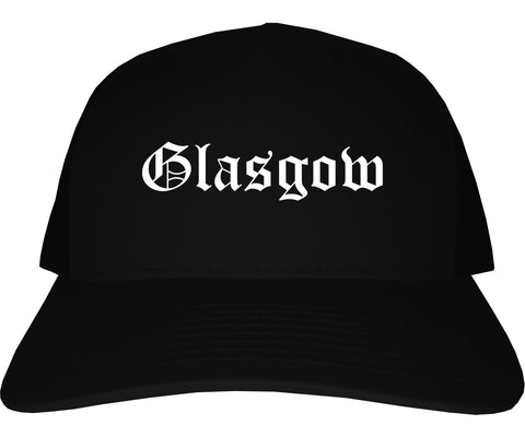 Glasgow Kentucky KY Old English Mens Trucker Hat Cap Black