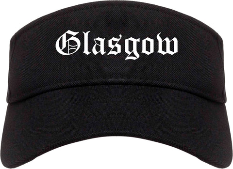 Glasgow Kentucky KY Old English Mens Visor Cap Hat Black