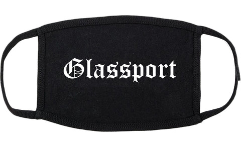 Glassport Pennsylvania PA Old English Cotton Face Mask Black