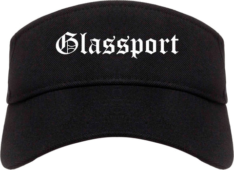 Glassport Pennsylvania PA Old English Mens Visor Cap Hat Black