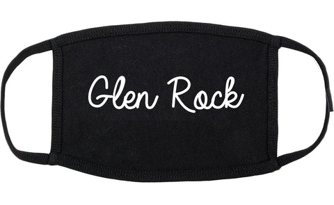 Glen Rock New Jersey NJ Script Cotton Face Mask Black