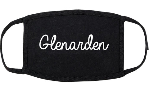 Glenarden Maryland MD Script Cotton Face Mask Black