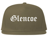Glencoe Illinois IL Old English Mens Snapback Hat Grey