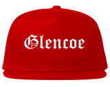 Glencoe Illinois IL Old English Mens Snapback Hat Red
