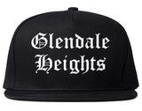 Glendale Heights Illinois IL Old English Mens Snapback Hat Black