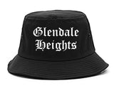 Glendale Heights Illinois IL Old English Mens Bucket Hat Black