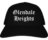 Glendale Heights Illinois IL Old English Mens Trucker Hat Cap Black