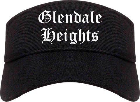 Glendale Heights Illinois IL Old English Mens Visor Cap Hat Black