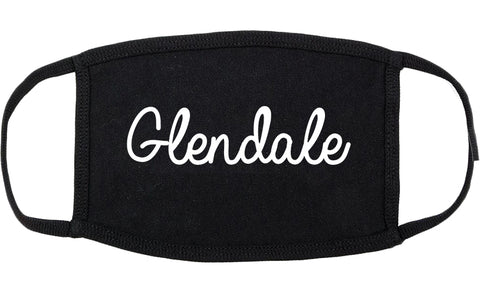 Glendale Wisconsin WI Script Cotton Face Mask Black