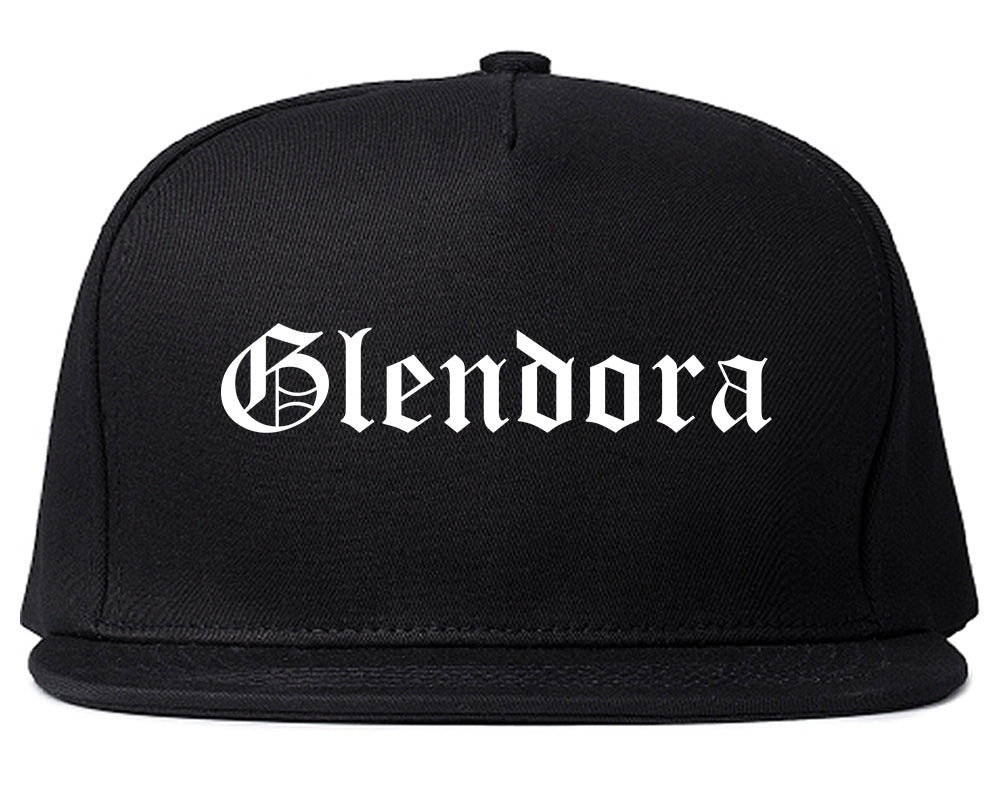 Glendora California CA Old English Mens Snapback Hat Black