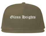 Glenn Heights Texas TX Old English Mens Snapback Hat Grey