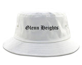 Glenn Heights Texas TX Old English Mens Bucket Hat White