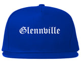 Glennville Georgia GA Old English Mens Snapback Hat Royal Blue