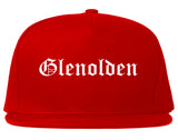 Glenolden Pennsylvania PA Old English Mens Snapback Hat Red