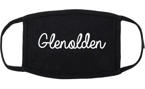 Glenolden Pennsylvania PA Script Cotton Face Mask Black