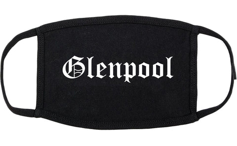 Glenpool Oklahoma OK Old English Cotton Face Mask Black