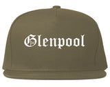 Glenpool Oklahoma OK Old English Mens Snapback Hat Grey
