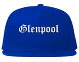 Glenpool Oklahoma OK Old English Mens Snapback Hat Royal Blue