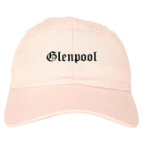 Glenpool Oklahoma OK Old English Mens Dad Hat Baseball Cap Pink