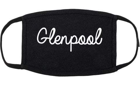 Glenpool Oklahoma OK Script Cotton Face Mask Black
