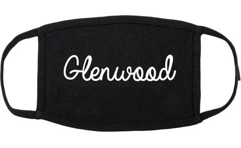 Glenwood Illinois IL Script Cotton Face Mask Black