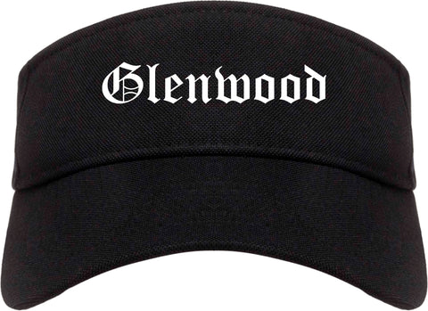 Glenwood Illinois IL Old English Mens Visor Cap Hat Black