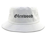 Glenwood Illinois IL Old English Mens Bucket Hat White