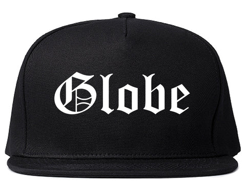 Globe Arizona AZ Old English Mens Snapback Hat Black