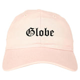 Globe Arizona AZ Old English Mens Dad Hat Baseball Cap Pink
