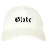 Globe Arizona AZ Old English Mens Dad Hat Baseball Cap White