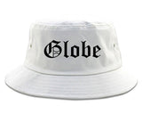 Globe Arizona AZ Old English Mens Bucket Hat White