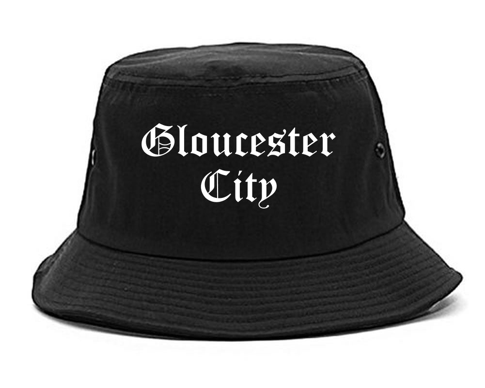 Gloucester City New Jersey NJ Old English Mens Bucket Hat Black