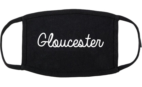 Gloucester Massachusetts MA Script Cotton Face Mask Black