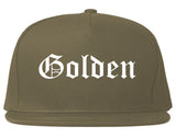 Golden Colorado CO Old English Mens Snapback Hat Grey
