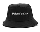 Golden Valley Minnesota MN Old English Mens Bucket Hat Black