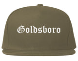 Goldsboro North Carolina NC Old English Mens Snapback Hat Grey