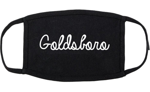 Goldsboro North Carolina NC Script Cotton Face Mask Black