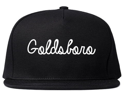 Goldsboro North Carolina NC Script Mens Snapback Hat Black
