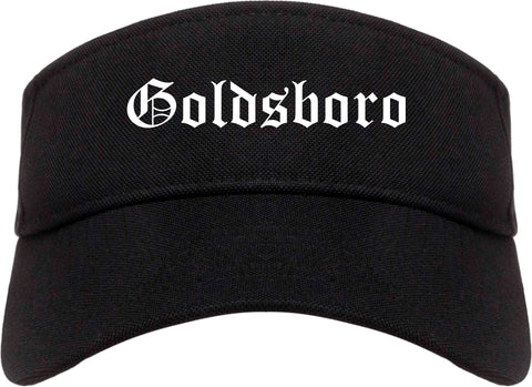 Goldsboro North Carolina NC Old English Mens Visor Cap Hat Black