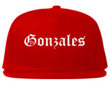 Gonzales California CA Old English Mens Snapback Hat Red