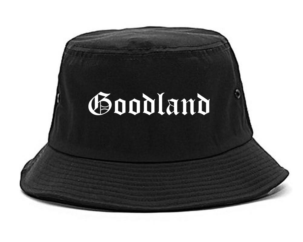 Goodland Kansas KS Old English Mens Bucket Hat Black