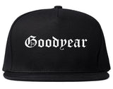 Goodyear Arizona AZ Old English Mens Snapback Hat Black