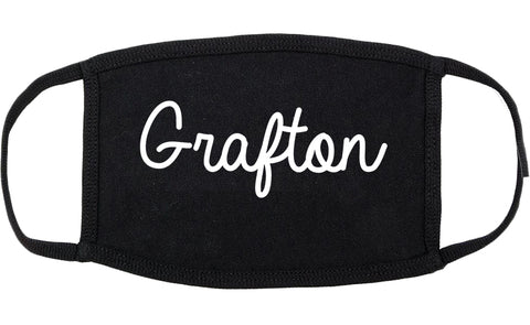 Grafton Ohio OH Script Cotton Face Mask Black